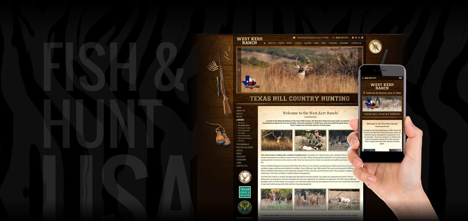 Website Design for Hunting