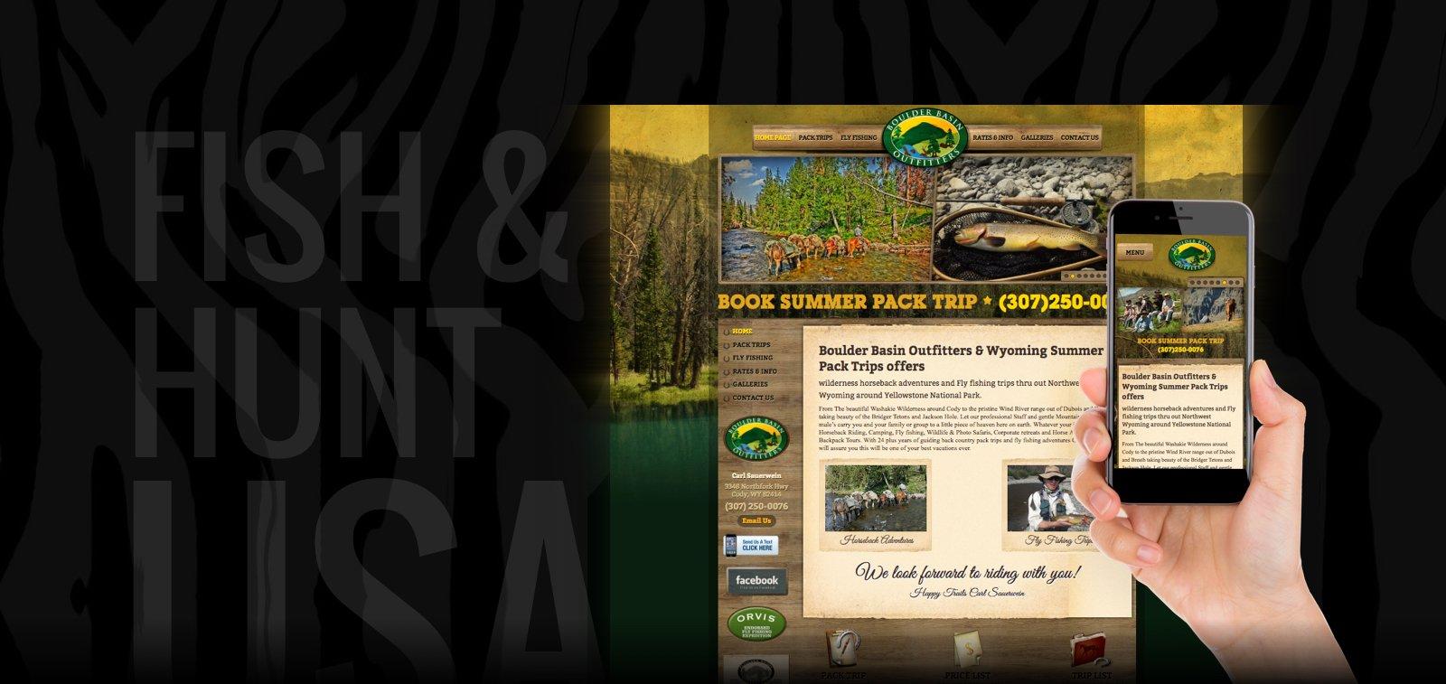 Outdoors Fishing Website Design