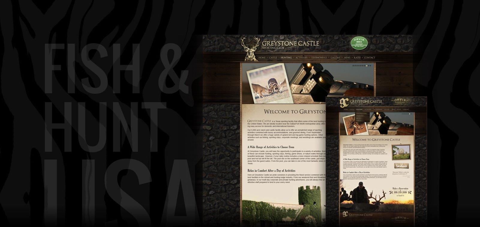 Outdoors Lodging Website Design